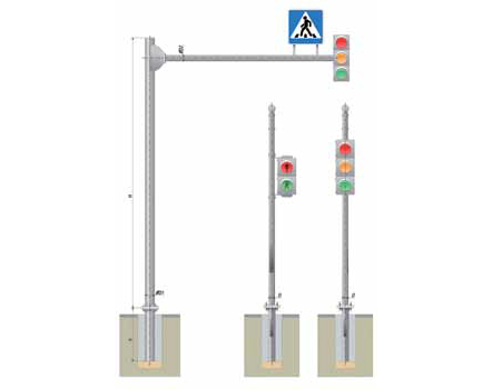 Стойки светофорные Тип СВ | ктц металлоконструкция